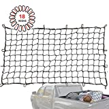Orion Motor Tech 5x7 to 10x14 ft XXL Bungee Cargo Net for Full Size Pickup Truck Bed, Featuring 24 Metal D-Clips, 5.5 inches Small mesh Hole