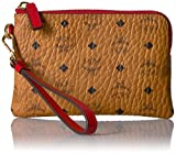 MCM Color Visetos Tech Pouch Small Wristlet (RED)