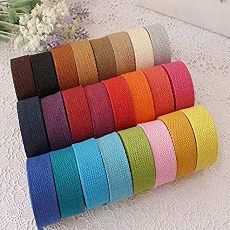 Utini - Cinta de tela de lona de algodón de 20 mm de ancho, 50 m ...