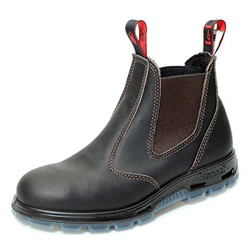 Brown Work Australien USBOK Safety Unisex Redback Boots aus Claret 250 ml Claret Braun Stahlkappe mit Lederpflege w1aqwOSn