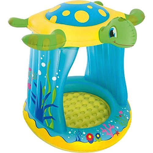 Kids-Blow-Up-Pool This Small Portable Kiddie Inflatable Above Ground Swimming Pool Is Great For Children, Toddlers To Have Outdoor Water Fun With Floats, Toys. Turtle Totz With Sun Shade Play Pool. - Above Ground Portable Swimming Pools