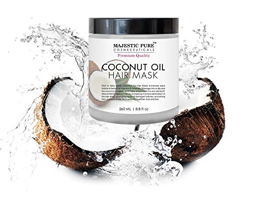 Majestic Pure Coconut Oil Hair Mask, Offers Natural Hair Care Treatment, Hydrating & Restorative Mask Restores Shine…