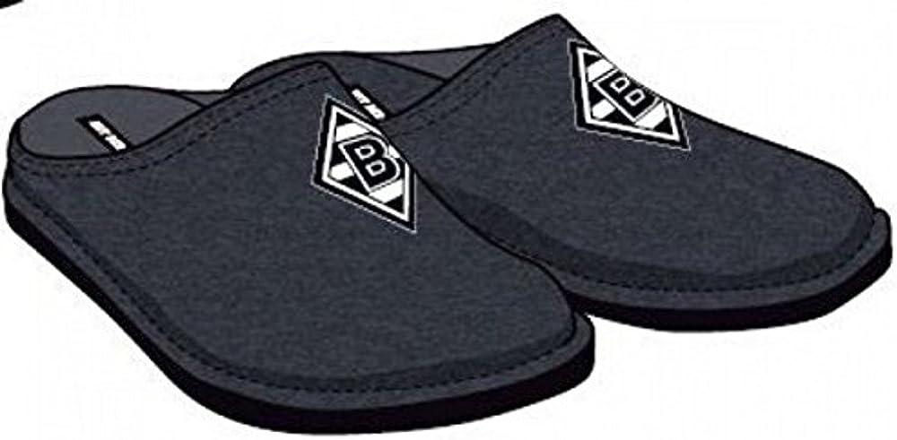 Makotex GmbH Chaussons Chaussures bMG Pantoufles Noir avec Borussia Gladbach
