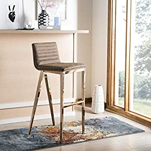 Safavieh FOX3016B McKay Bar Stool Brown