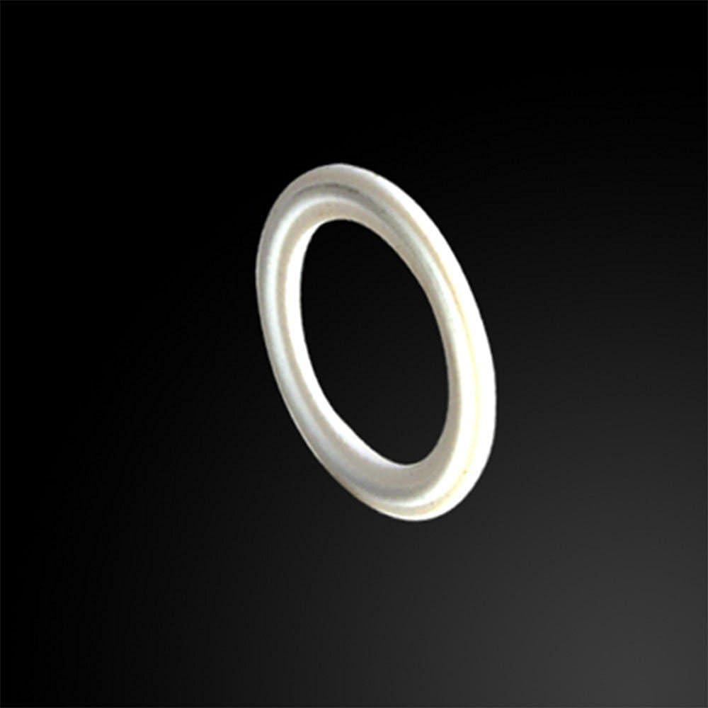 2.5 2-1//2 64MM Tri Clamp White Teflon PTFE Gasket fits OD 77MM Sanitary Pipe Fittings Ferrule Flange