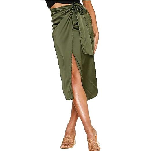 Mebeauty Faldas de Mujer Falda de Mujer con Estampado de Leopardo ...