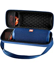 Case Compatible with JBL FLIP 5 Waterproof Portable Bluetooth Speaker. Hard Travel Storage Holder for JBL FLIP 4 and USB Cable&Adapter - Blue (Case Only)