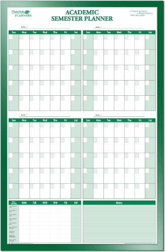 College Student's Semester Undated Calendar by PlanetSafe Planners (Image #1)