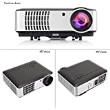 TOPNEW Video Projector Led 2800 Lumens LCD Home Movie TV Projector 1080p HD 1280x800 Native Resolution Support AV/HDMI/USB/VGA/ATV for Home Cinema Theater Business Presentation