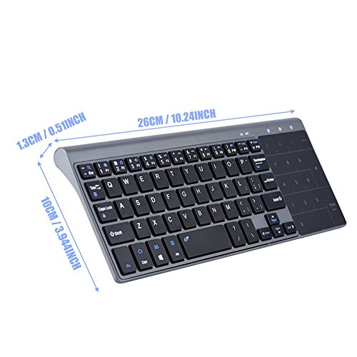 fosa 2.4Ghz Wireless Keyboard, Portable Slim Wireless Handheld Keyboard with Touchpad, Fast-Charging for iOS, Windows System/PC/Notebook/TV Box/Computer so on by fosa (Image #4)