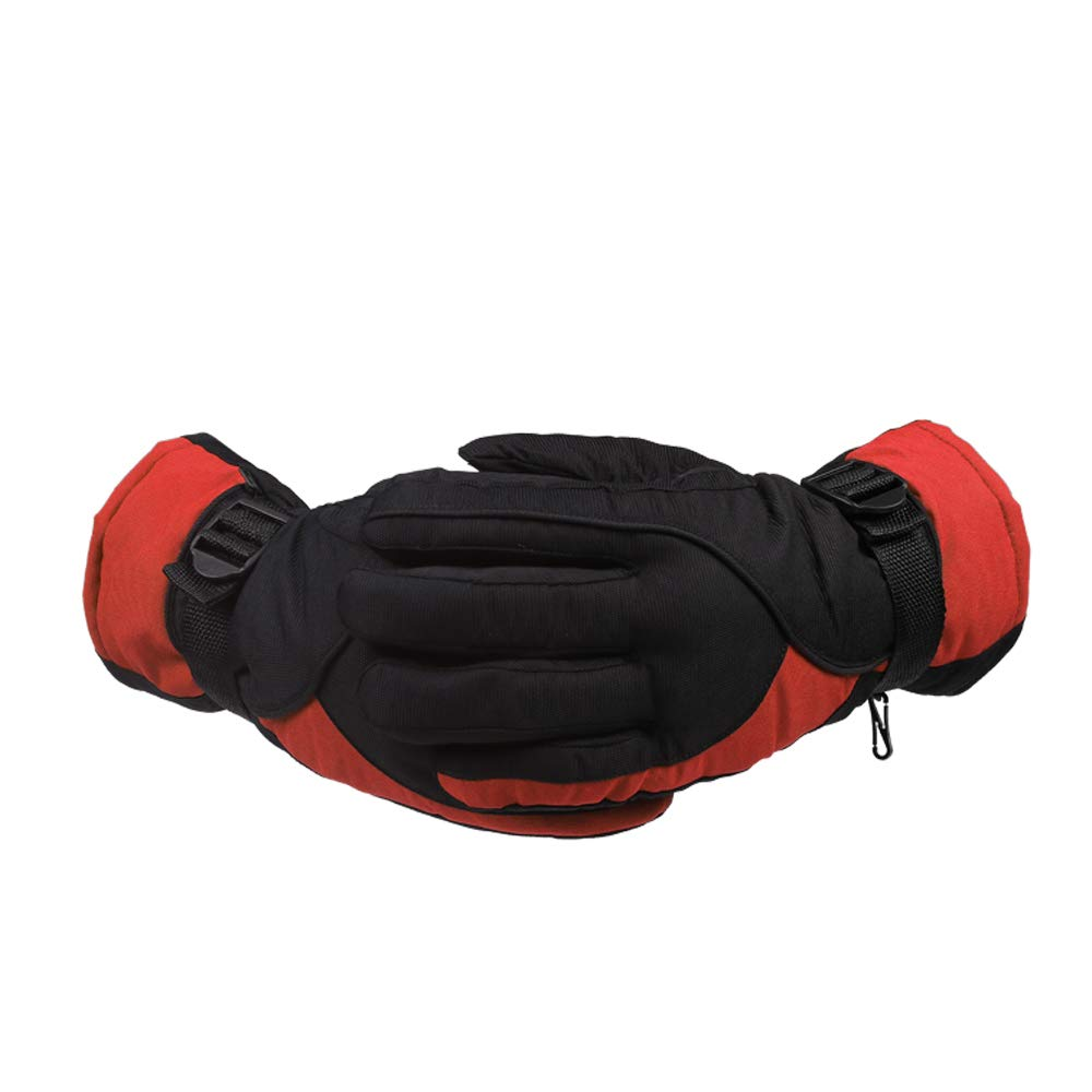 Outdoors Riding Gloves, Warm Non-Slip Waterproof Snow Gloves Thermal Windproof Gloves for Outdoor Sports Skiing - Black