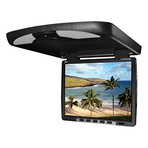 Tview T144DVFD-BK Car Flip Down DVD Monitor (Black)