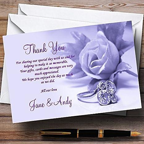 Amazon.com: Lila y morado rosa anillo personalizado boda ...
