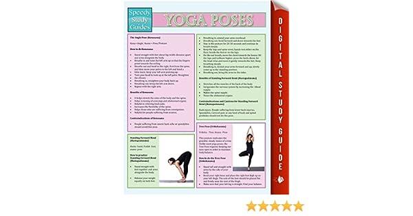 Yoga Poses: Speedy Study Guides