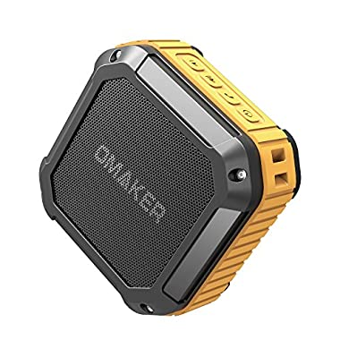 Omaker M4 Portable Bluetooth 4.0 Speaker with 12 Hour Playtime for Outdoors/Shower(Orange)