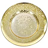 Koyal Wholesale Antique Mercury Glass Charger