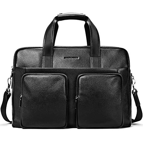 BOSTANTEN Leather Briefcase Mess...