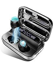 Écouteurs Bluetooth 5.0 Ecouteurs sans Fil 125H Heures, TWS Hi-FI Stéréo Oreillette Bluetooth avec Contrôle Tactile, Appariement Automatique, Microphones Intégrés Ecouteur Bluetooth pour Running