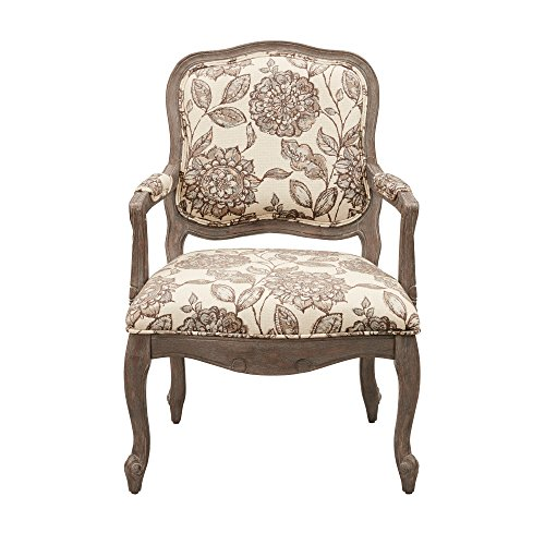 - Chair Living Room Shabby Chic/Traditional 100-Percent Polyester Reclaimed Grey Charlotte Camel Back Exposed Wood Chair - FPF18-0501 Hand-Carved Birch Hardwood. (Assembly Required)