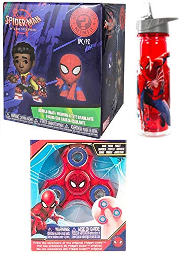 Water Bottle Flip Straw Comic Character Set 3 Items Funko Gameverse Spider Mini Mystery Figures Blind Box into Spider-Verse Bundle