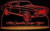 1970 Chevelle SS Acrylic Lighted Edge Lit LED Sign Awesome 21'' Light Up Plaque 70 VVD1 Full Size USA Original
