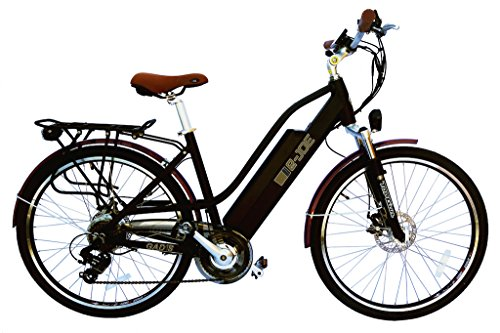 2017 e Joe Bikes Gadis Electric Cruiser Bike Electric Comfort Bicycle Midnight Matte Black+ BONUS FREE FOLDYLOCK BIKE LOCK +FREE GIFT 16000mAH solar charger power bank for your cell phone