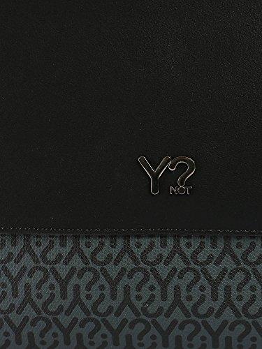 YNOT - Bolso al hombro para hombre negro negro