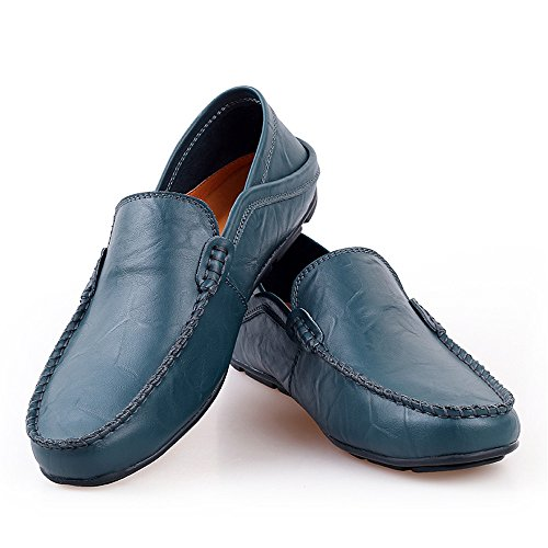 Ajustable Mocassins Suela Top Meimei Conducción Respaldo Vare Mocasines Azul los Barco Low tamaño Slip Goma on Casual Hombres EU Vamp shoes Color 39 Penny Suave de sin de xnaRx