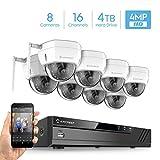 Amcrest 16CH 4MP Security Camera System, (8) x 4-Megapixel IP67