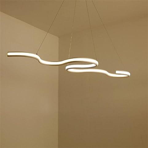 NIHE Länge 900mm Modern Led Hängende Pendelleuchten Esszimmer Küche Raum  Hohe Helligkeit Aufhängeleuchte Kronleuchter (Dimmen