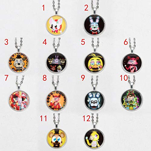 Grocoto Action & Toy Figures - 5pcs/lot Five Nights at Freddy's Necklace FNAF Freddy Fazbear Bear Antique Pendant Jewelry Chain Figure Toys 1 PCs from Grocoto
