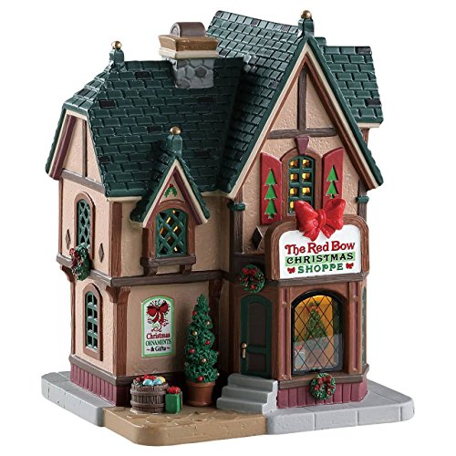 Lemax Village Collection The Red Bow Christmas Shoppe #85379 (Village Christmas Lemax Caddington)