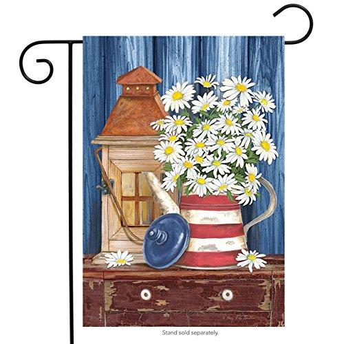 Briarwood Lane Lantern and Daisies Summer Garden Flag Patriotic Primitive Floral 12.5
