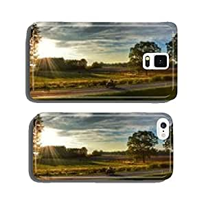 Motorcycling in autumn cell phone cover case Samsung S5
