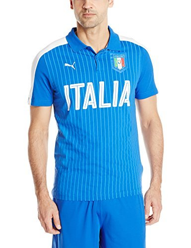 - Puma Men's Figc Italia Fanwear Polo Top, Team Power Blue/White, Medium
