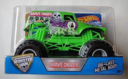 - Hot Wheels Monster Jam Grave Digger 1:24 Scale, Green