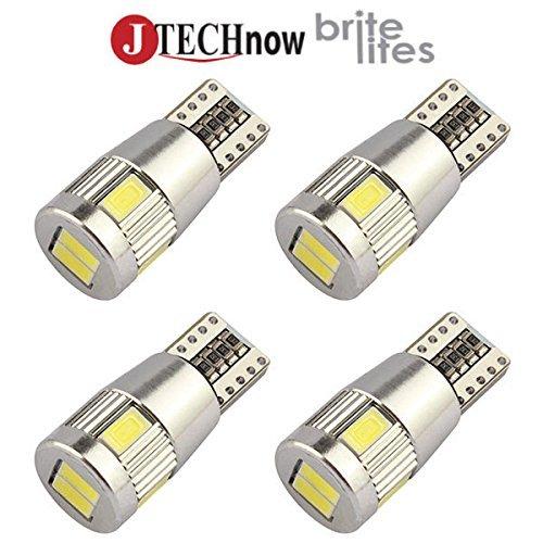 Jtech 4 x T10 3W 5630 5730 SMD LED CANBUS Error Free Car Lights Bulb W5W, 147, 152, 158, 159, 161, 168, 184, 192, 193, 194 2825