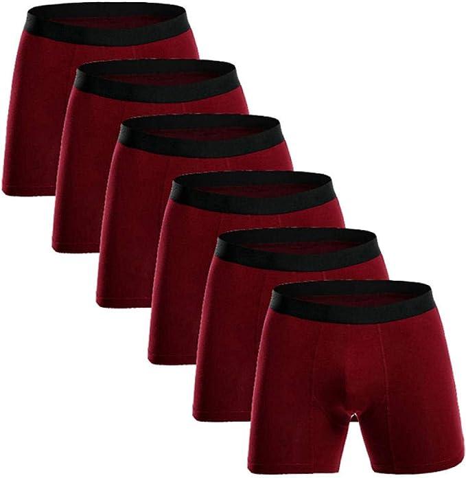 6 Piezas Tallas Grandes Algodón Ropa Interior para Hombres Boxer ...