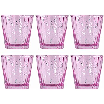 Fresh Amazon.com: Set of Six Blue Mercury Glass Votive Candle Holders  FO08
