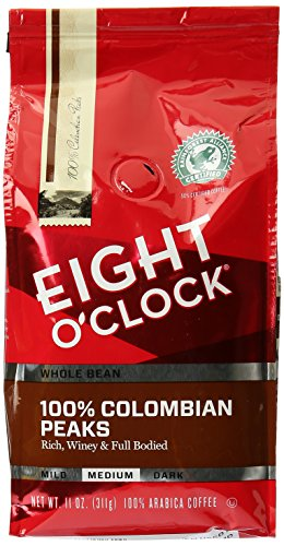 EIGHT O'CLOCK Colombian Whole Bean Coffee, 11 oz