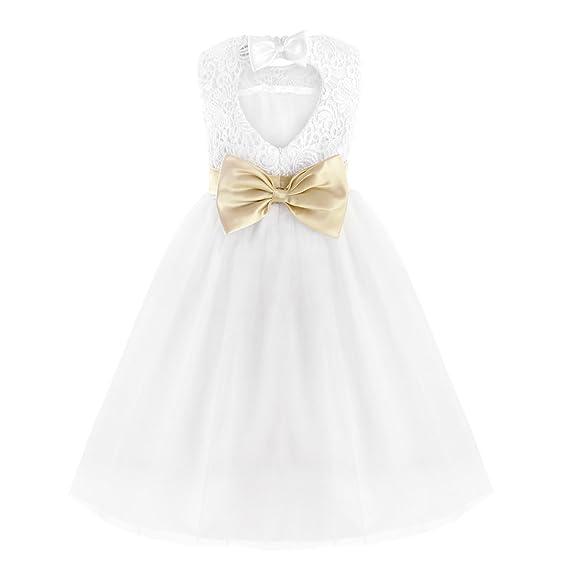 YiZYiF Flower Girl Dresses Wedding Bridesmaid Birthday Party Formal Recital Gown 2