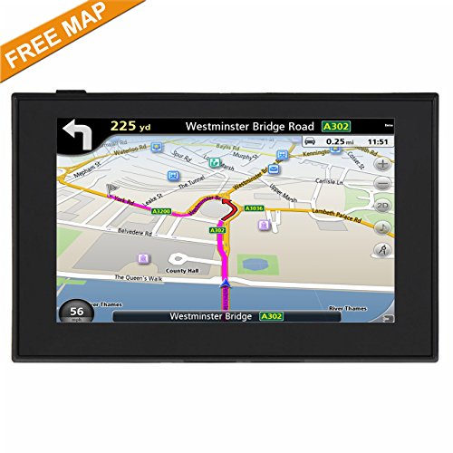HighSound GPS Navigation for Car, 5 inches 8GB Lifetime Map Update Spoken Turn-to-Turn Navigation System for Cars, Vehicle GPS Navigator Lifetime Maps by HighSound