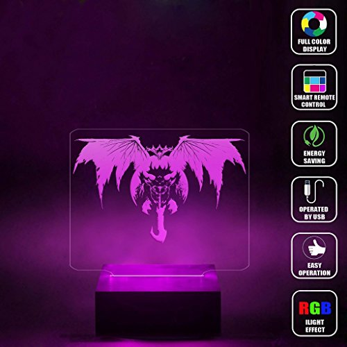 Price comparison product image CMLART Destiny Oryx theTaken King 3d Lamp Night Multi-color Change RGB Remote Control Best Gift Night Light LED Furnish Desk Table Lighting Home Decoration Toys