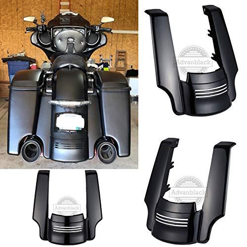 Us Stock Advanblack Denim/Matte Black 4 1/2 inch Stretched Rear Fender Extension Filler Kit Fit for Harley Touring Road King Street Glide Special 2014 2015 2016 2017 2018 2019