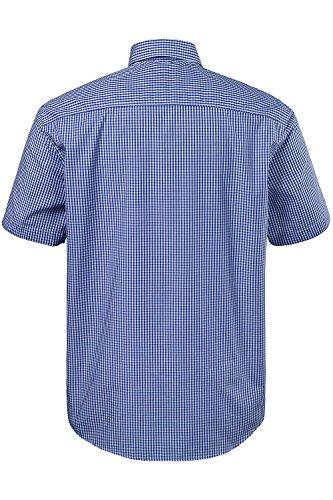 JP 1880 Homme Grandes tailles Chemise casual - Manches courtes - Homme - Poche poitrine - Haut à carreaux bleu 4XL 703620 71-4XL