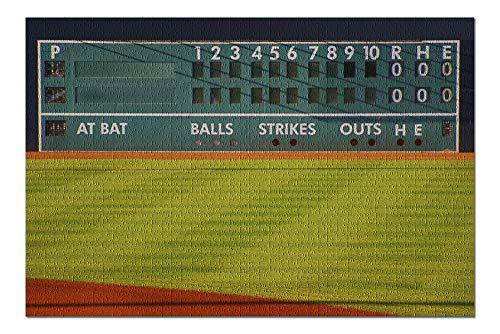 (Baseball Field Scoreboard Photography A-89887 (20x30 Premium 1000 Piece Jigsaw Puzzle, Made in USA!))