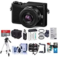 Panasonic Lumix DC-GX850 Mirrorless Digital Camera w/12-32mm Mega O.I.S. Lens, Black - Bundle With Camera Case, 32GB MicroSDHC Card, Spare Battery, Tripod, Card Reader, Software Package, And More