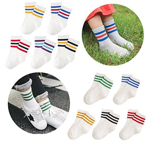 MZ-Toddler-3-Strips-Retro-Cotton-Crew-Ankle-Socks-for-KidsYear110