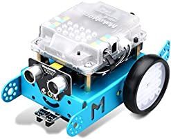 Makeblock MBot Upgrated Version DIY Mbot V1.1 Arduino C Graphical Bluetooth Programming Educational Robot Kit -Blue (Bluetooth Version)