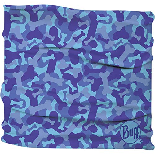 Buff Dog Insect Shield Neckwear - Bone Camo Blue; Small/Medium